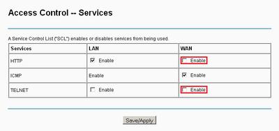 Access Contro -- Services